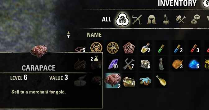 TES Online — Inventory Grid View