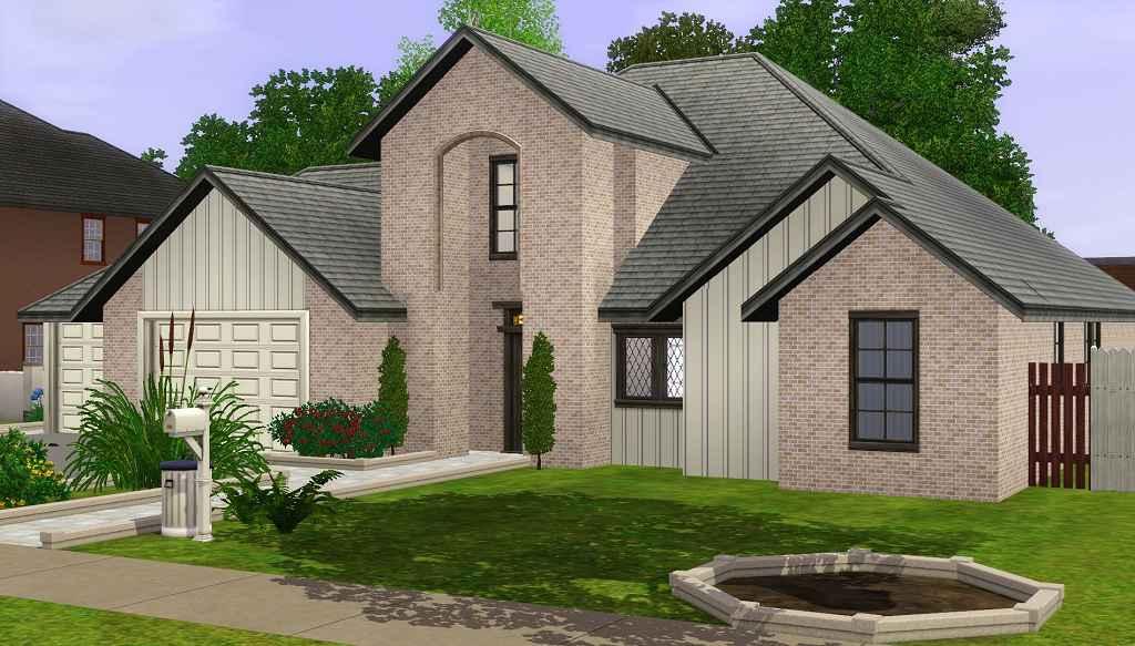 Мод Sims 3 — Современный пригородный дом