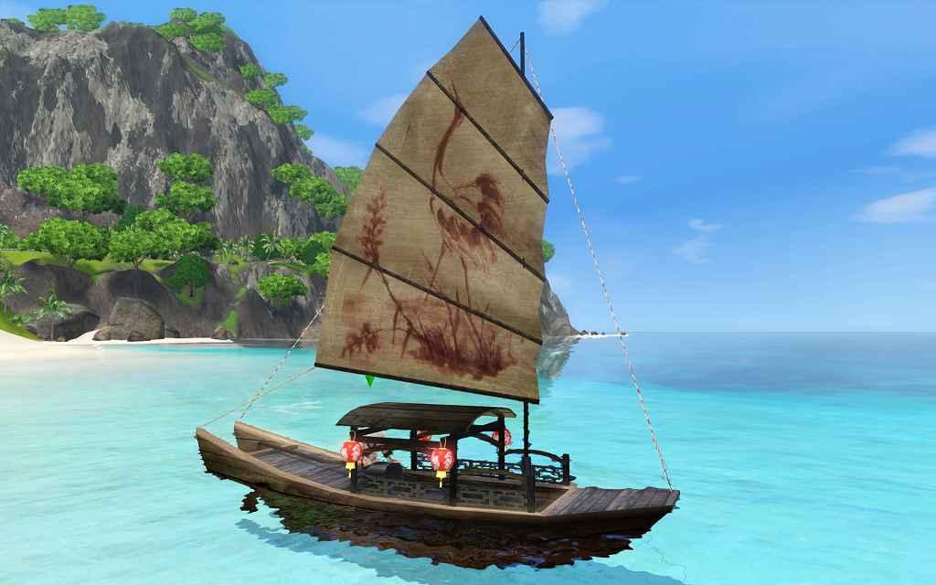 Мод The Sims 3 — Лодка «Sampan»