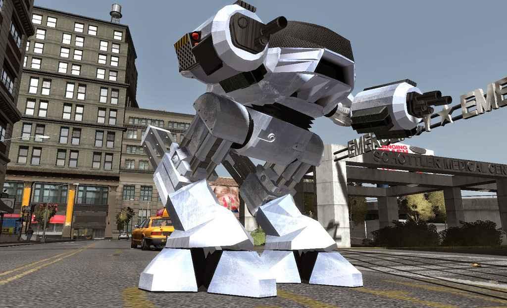 GTA 4 — Робот ED-209 из первого РобоКопа
