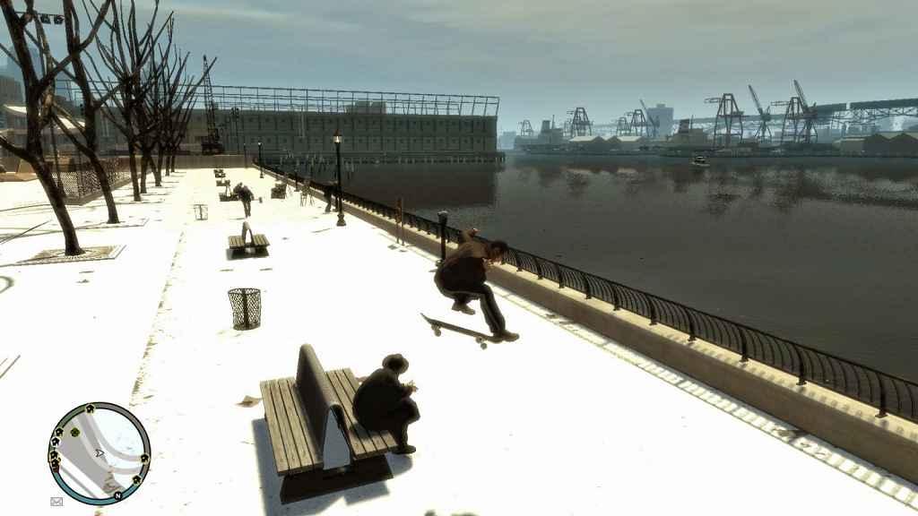 GTA 4 — Катаемся на скейте