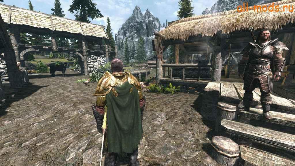 Мод Skyrim — Плащи на всей броне в игре