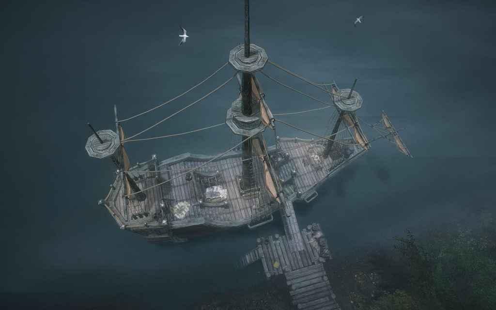 Мод Skyrim — Корабль-дом «Безмятежность»