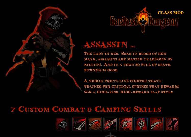 Модификация Darkest Dungeon: Assassin_Class Mod / Новый класс «Асассин»