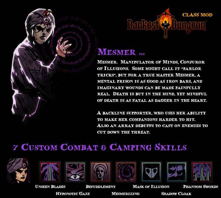 Модификация Darkest Dungeon: Mesmer — Class Mod / Новый класс — Месмер