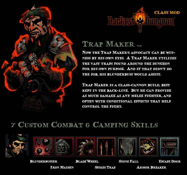 Модификация Darkest Dungeon — Trap Maker / Новый класс «Капканщик»