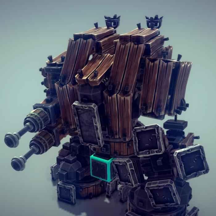 Мод Besiege — Дредноут Mk.II (из Warhammer 40000)