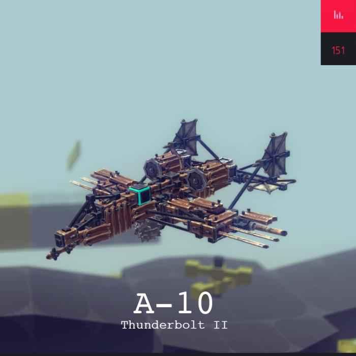 Мод Besiege — А-10 «Тандерболт II»