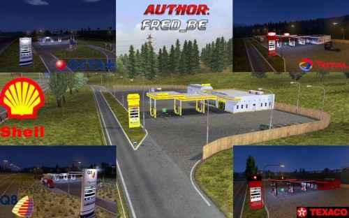 Мод ETS 2 — Реальные автозаправки (Real Gas Station)