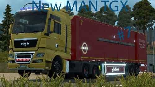 Мод ETS 2 — Новые модификации для MAN (New MAN TGX Modified)