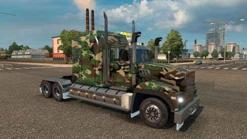 Мод ETS 2 — Камуфляжный скин (Army Camo skin for Mack Titan)