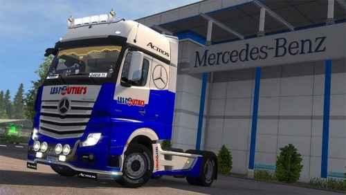 ETS 2 — Скин для Mercedes Actros (Skin Mercedes Actros MPIV Les Routiers)