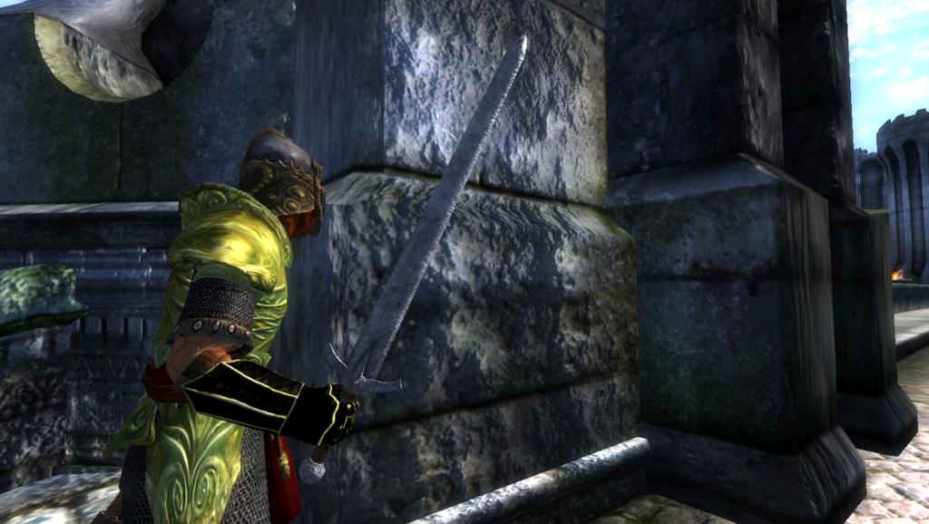 Oblivion — Ретекстур Железного Длинного меча