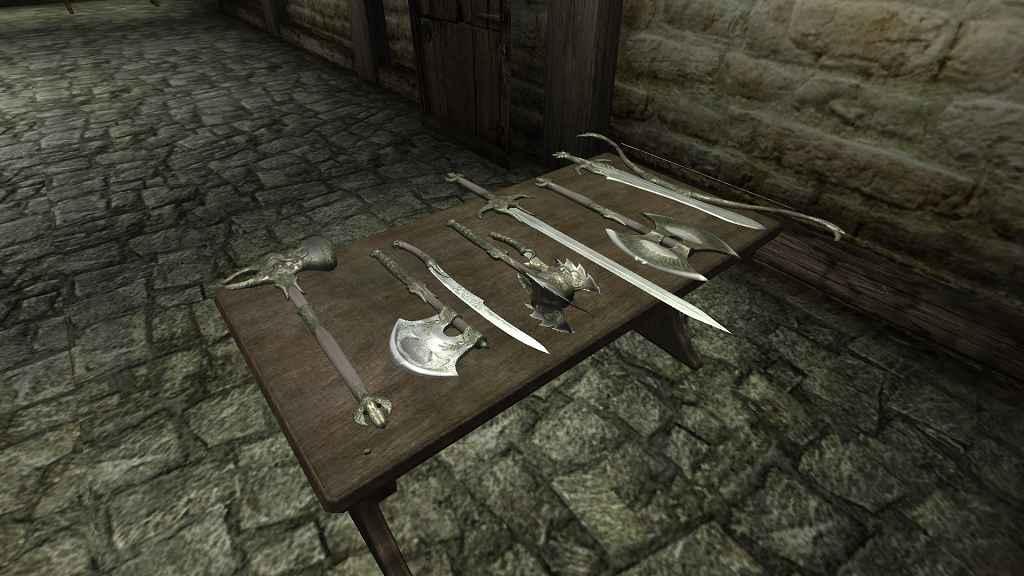 Oblivion — Реколор Эльфийского оружия и брони