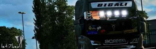 Мод ETS 2 — Хромированный солнцезащитный козырек (New Scania Chrome Sunshield)
