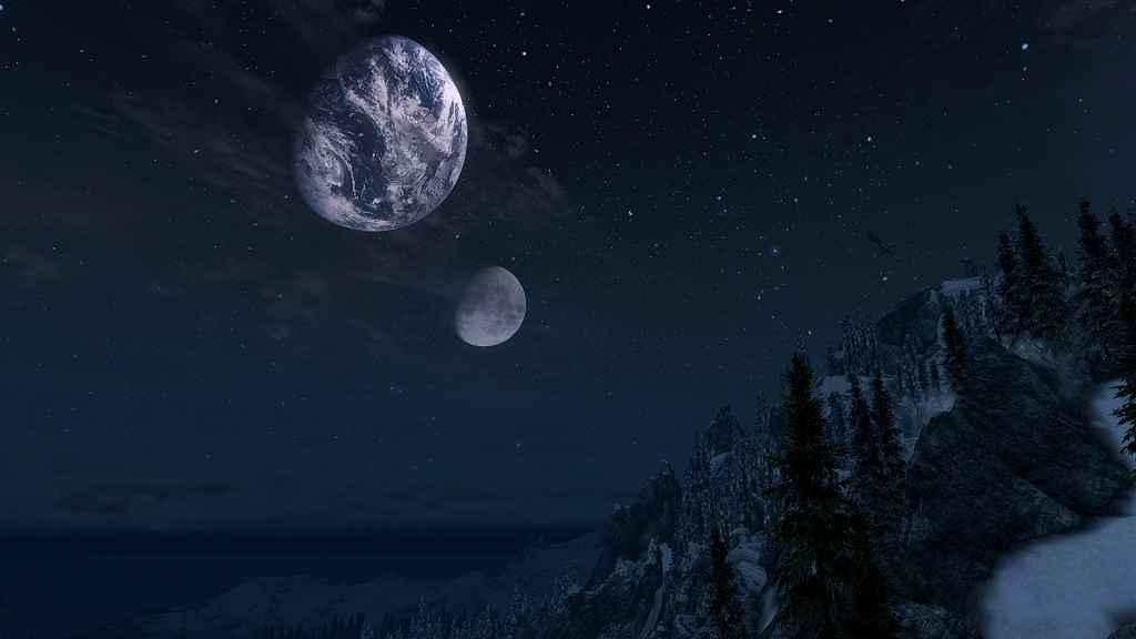 Мод Oblivion — Реальные Земля и Луна