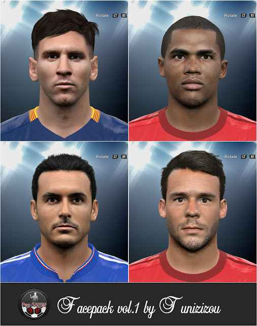 PES 2016 — 4 новых лица (Facepack Tunizizou vol.1)