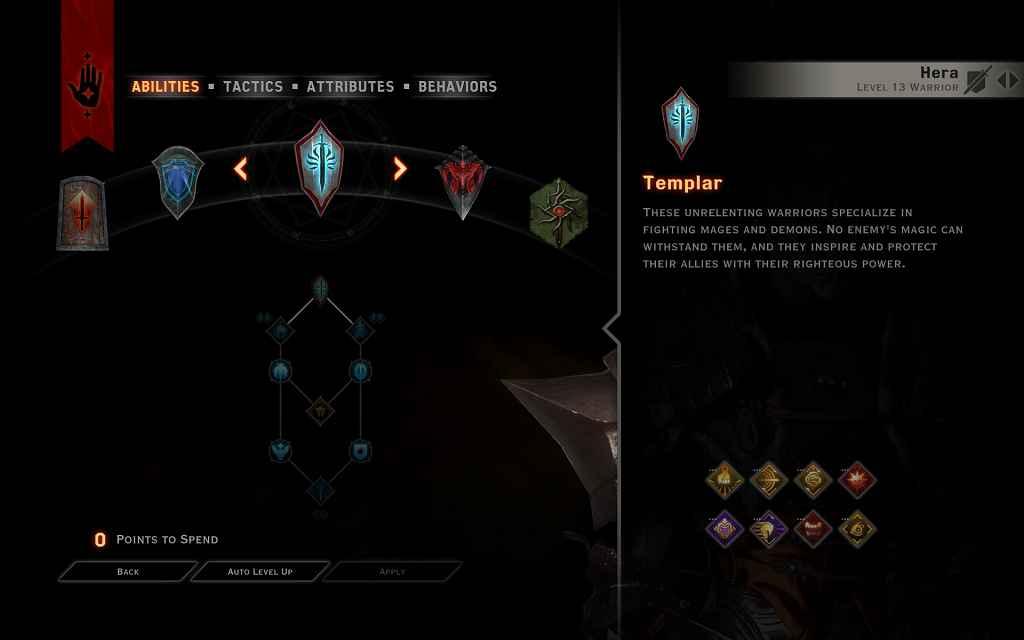 DA: Inquisition — Разблокировка Подклассов