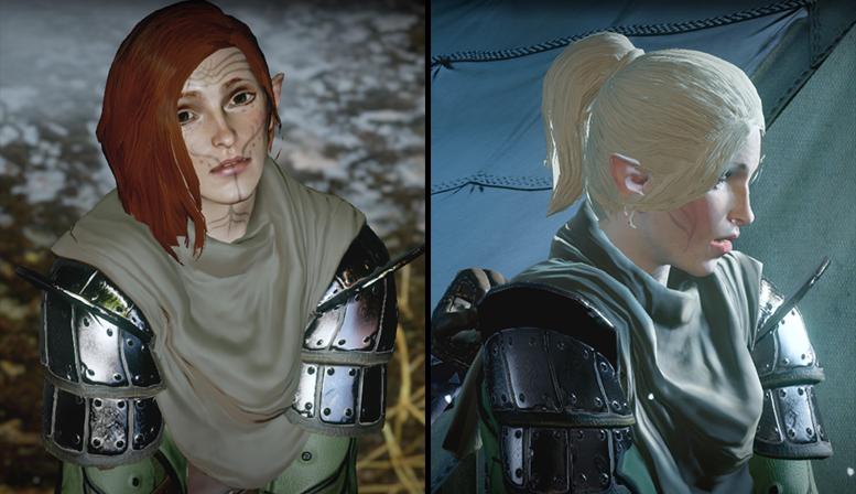 DA: Inquisition — Изменение причёсок Эльфиек