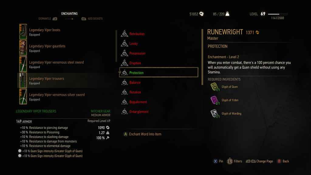 Мод The Witcher 3 — Зачарование для всех типов брони