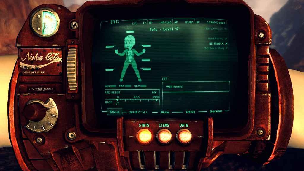 Мод Fallout New Vegas — Нюка Пип-Бой 3000