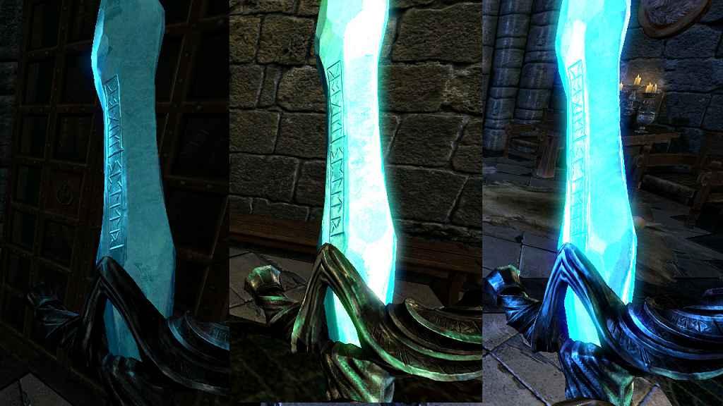 Мод Skyrim — Кристальный Двуручный Меч
