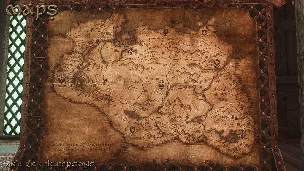 Мод Skyrim — Карты