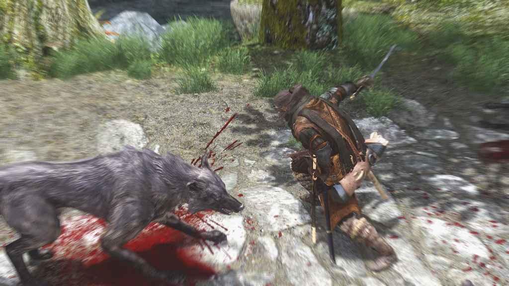 Мод Skyrim — Силовая Атака одним мечом. Новая анимация