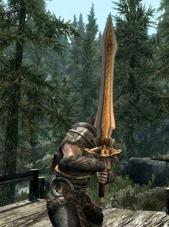 Мод Skyrim — Двуручный меч Фенрир