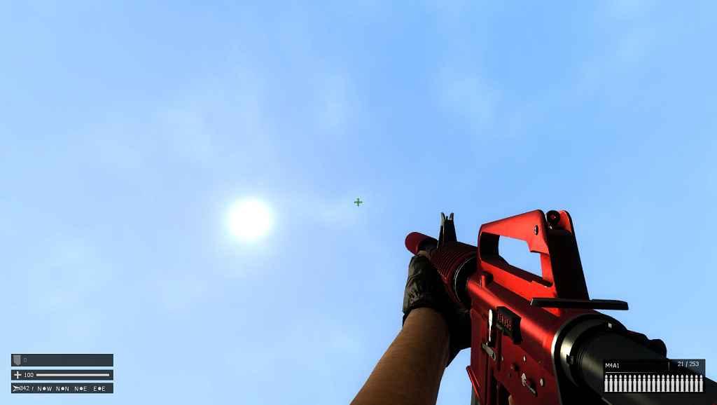 Мод Garry's Mod 13 — CS:GO M4A1-S Пак Скинов
