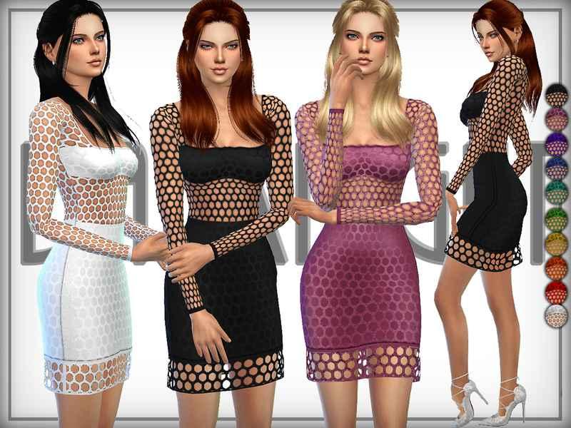 Мод Sims 4 — Платье-сетка (Net Dress)