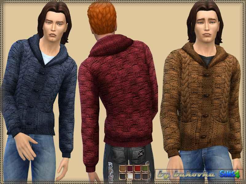 Мод Sims 4 — Мужской жакет (Jacket with Braids)
