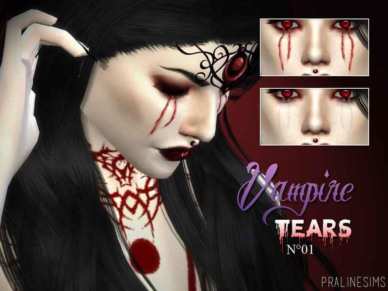 Мод Sims 4 — Вампирский макияж (Vampire Collection)