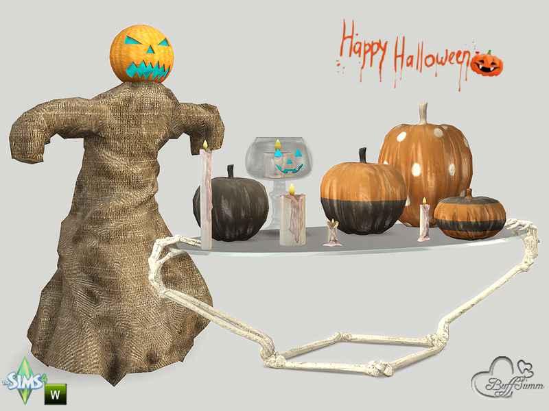 Мод Sims 4 — Антураж Хэллоуина (Happy Halloween 2015)