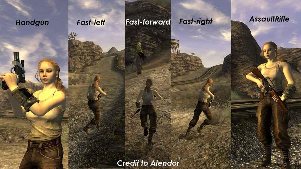 Мод Fallout New Vegas — Новая анимация бега с оружием