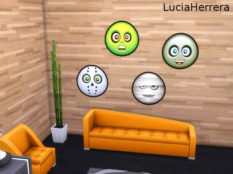 Мод Sims 4 — Декоративные наклейки на Хэллоуин (Halloween Stickers SET)