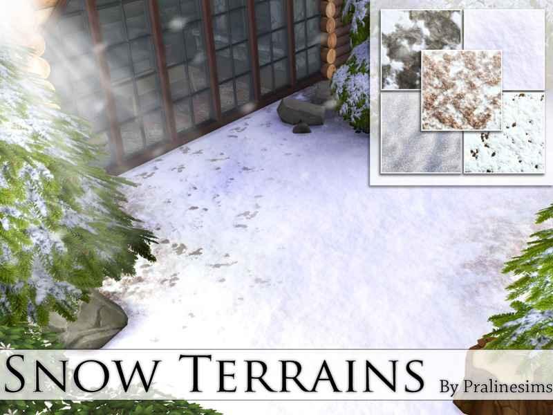 Мод Sims 4 — Снег (Snow Terrains)