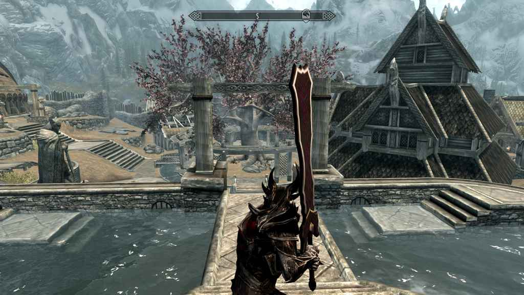 Мод Skyrim — Двуручный меч Лаеватеинн