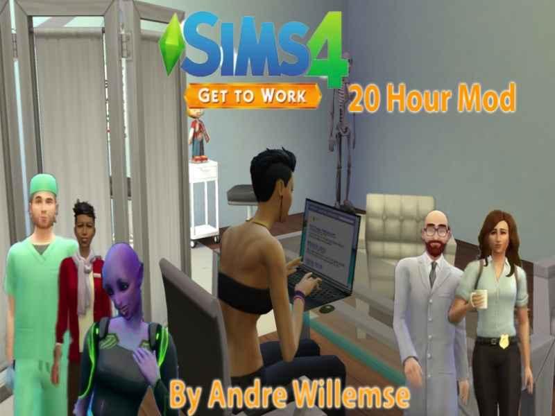 Мод Sims 4 — Работайте 20 часов (Get to Work 20 Hour Mod)