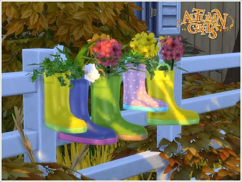 Мод Sims 4 — Осенний сад (Autumn Garden)
