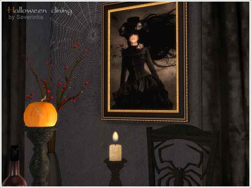Мод Sims 4 — Столовая на Хэллоуин (Halloween dining)