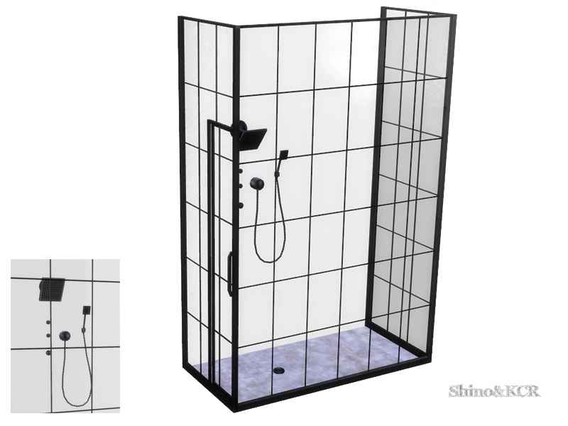 Мод Sims 4 — Душевая в стиле Лофт (Loft Bathroom — Shower)