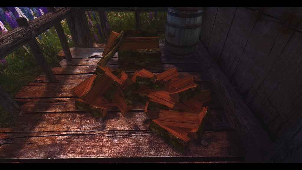 Мод Skyrim — Реплейсер дров, коры, грибов на деревьях
