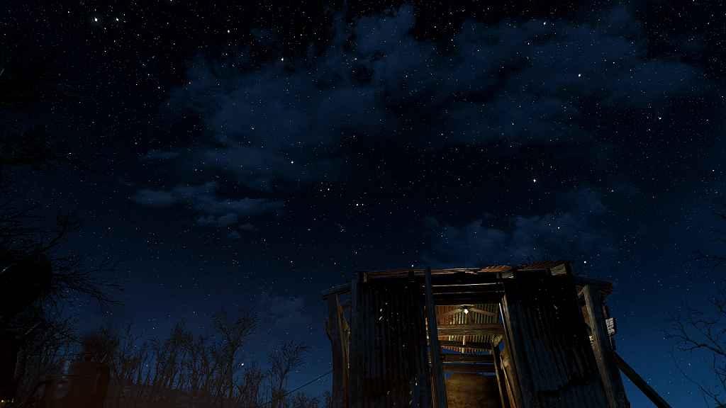 Мод Fallout 4 — Ретекстур звездного неба