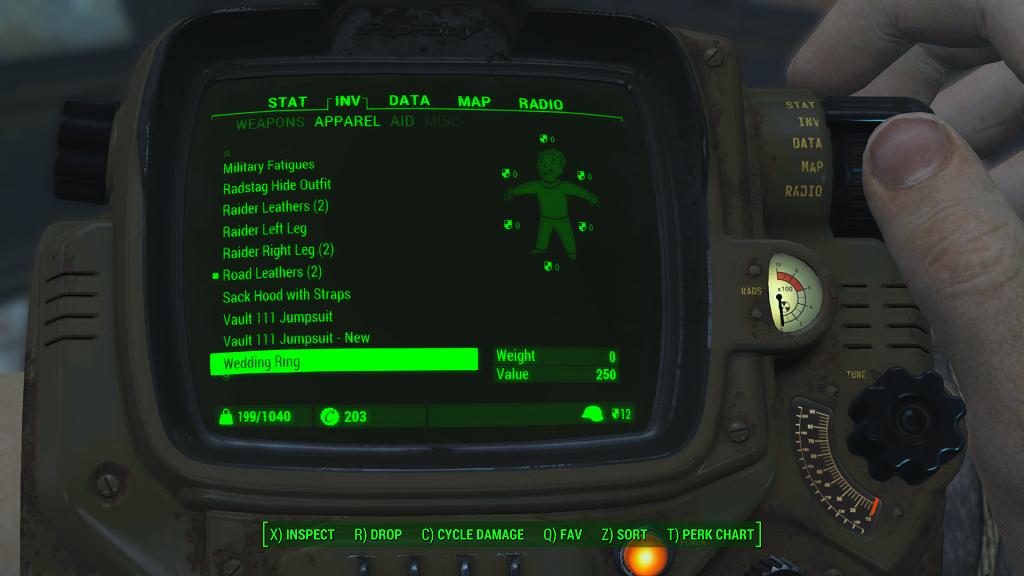 Fallout 4 — Модификация лимита на переносимый вес