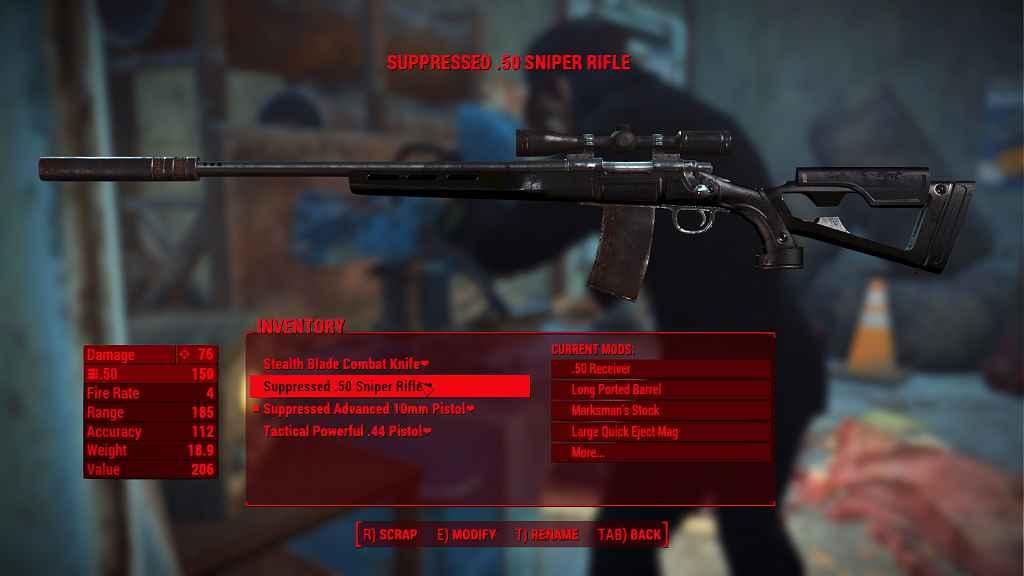 Мод Fallout 4 — Черный ретекстур снайперской винтовки