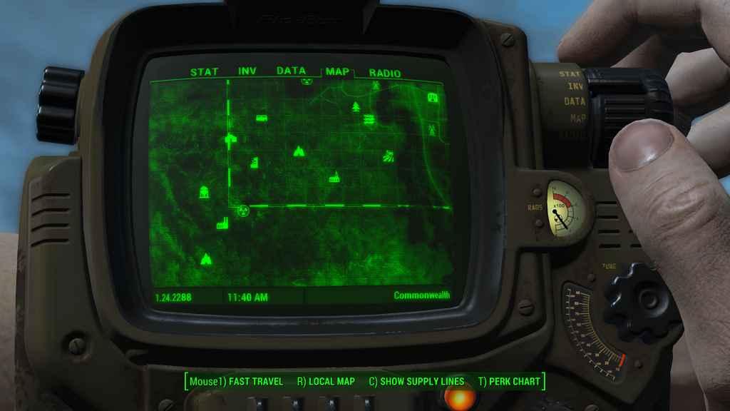 Мод Fallout 4 — Альтернативная карта