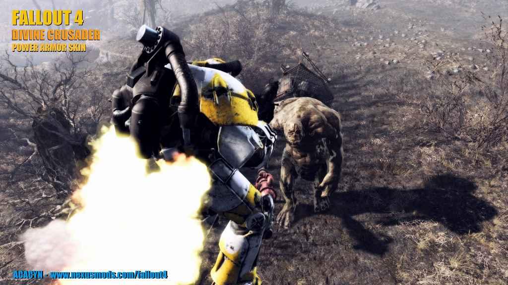 Fallout 4 — Силовая броня Крестоносцев (Divine Crusader — Power Armor Skin)