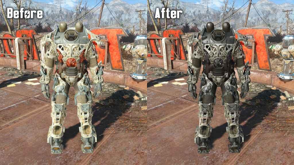 Мод Fallout 4 — Тёмная Силовая броня