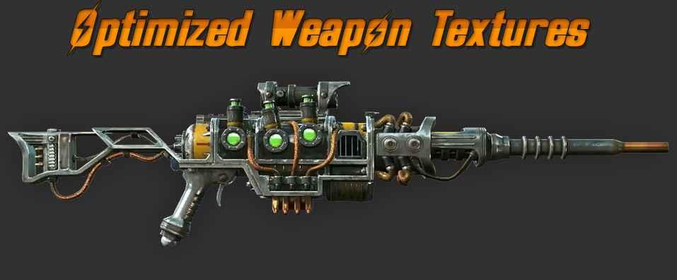 Мод Fallout 4 — Оптимизированные Текстуры оружий